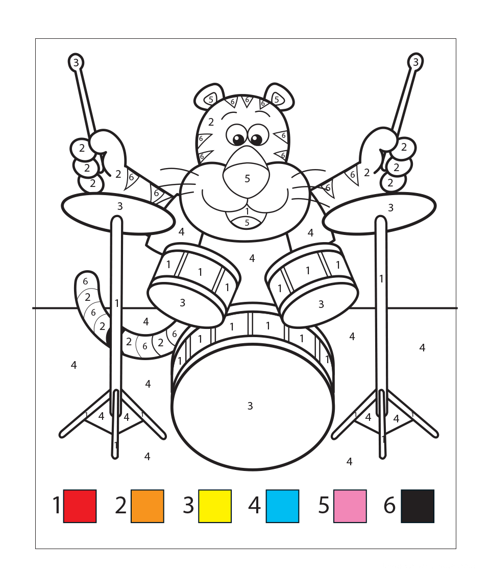 Kids Colour By Numbers (Children)