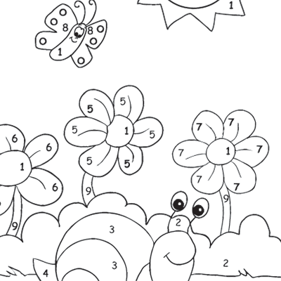 Kids Colour By Numbers #0011<p>Theme: Garden Snail</p>