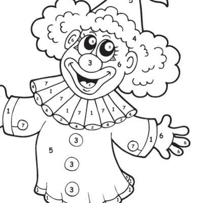 Kids Colour By Numbers #0048<p>Theme: Clown</p>