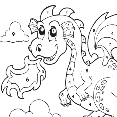 Kids Colour By Numbers #0051<p>Theme: Dragon</p>