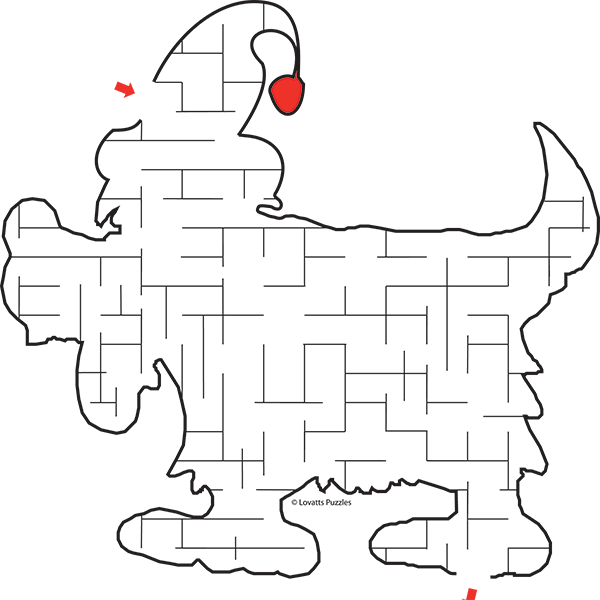 Maze for Children #0053<p>Theme: Christmas Puppy</p>