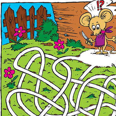 Maze for Children #0059<p>Theme: Mouse & Cheese</p>