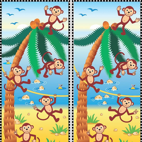 Spot the Difference #0021<p>Title: Monkeys</p>