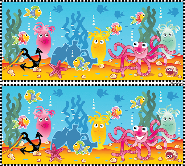 Spot the Difference #0029<p>Title: Under the Sea</p>2