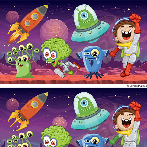Spot the Difference #0030<p>Title: Space Aliens</p>